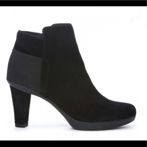 Geox women ankle boot black suede